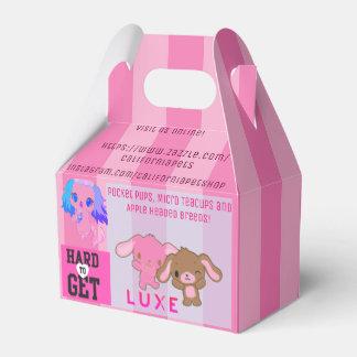 Caixinha De Lembrancinhas O saco da listra do rosa da loja de animais de