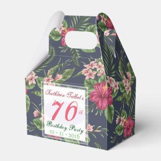 Caixinha De Lembrancinhas Obrigado da festa de aniversário do 70 do hibiscus