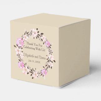 Caixinha De Lembrancinhas Obrigado da flor de cerejeira e do trevo você