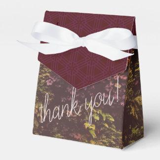 Caixinha De Lembrancinhas Obrigado da parede da planta do rubi você saco do