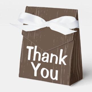 Caixinha De Lembrancinhas Obrigado de madeira rústico de Brown você -
