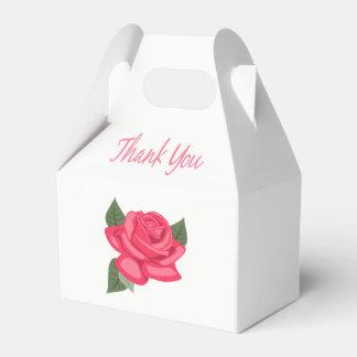 Caixinha De Lembrancinhas Obrigado floral você flores cor-de-rosa