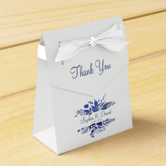 Caixinha De Lembrancinhas Obrigado Wedding pintado azuis marinhos dos louros