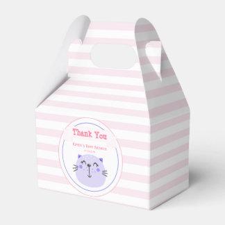 Caixinha De Lembrancinhas Obrigado You do chá de fraldas roxo bonito do gato
