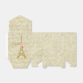 Caixinha De Lembrancinhas Ouro da torre Eiffel de Paris & favor elegante