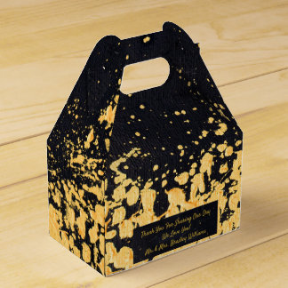 Caixinha De Lembrancinhas Ouro moderno corajoso do falso do preto do evento