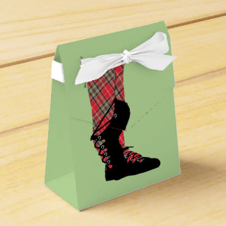 Caixinha De Lembrancinhas Partido de dança escocês de Peraonalized do Tartan