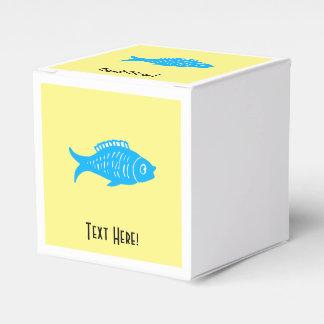 Caixinha De Lembrancinhas Peixes azuis