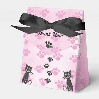 Caixinha De Lembrancinhas Personalize impressões pretos cor-de-rosa da pata