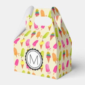 Caixinha De Lembrancinhas Popsicles e monograma personalizado sorvete