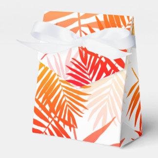 Caixinha De Lembrancinhas Por do sol tropical do verão da folha da palmeira