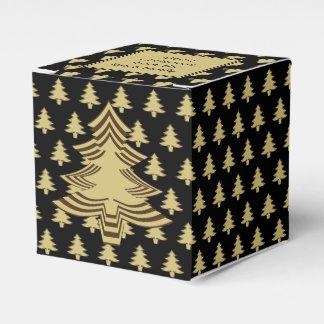 Caixinha De Lembrancinhas Preto/teste padrão da árvore da pia batismal do