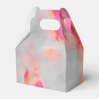 Caixinha De Lembrancinhas Rosa da lavagem de cor da água
