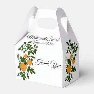 Caixinha De Lembrancinhas Rosas amarelos que Wedding ou celebração do