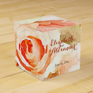 Caixinha De Lembrancinhas Rosas cor-de-rosa do pêssego com nomes modernos do