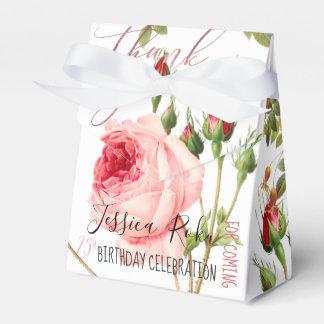 Caixinha De Lembrancinhas Rosas do vintage de PixDezines/arte botânica