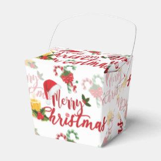 Caixinha De Lembrancinhas Roteiro da caligrafia do Feliz Natal