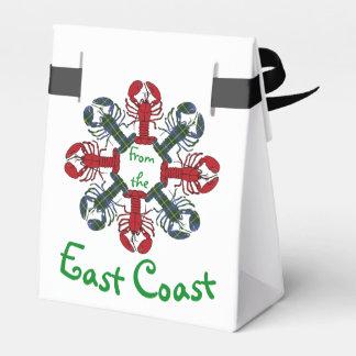 Caixinha De Lembrancinhas Saco do deleite de N.S. Tartan Natal do floco de