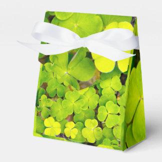 Caixinha De Lembrancinhas Tenda de campanha Favor box - trevos de sorte