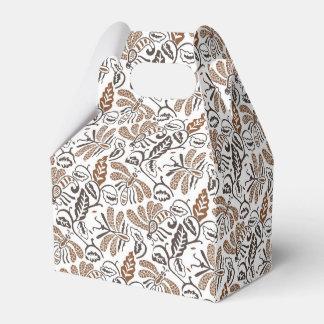 Caixinha De Lembrancinhas Teste padrão branco de Walang Brown do Batik