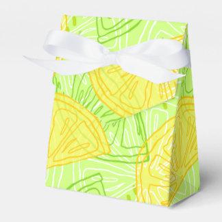 Caixinha De Lembrancinhas Teste padrão brilhante dos limões do citrino do