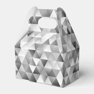 Caixinha De Lembrancinhas Teste padrão cinzento do triângulo