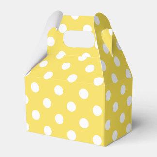 Caixinha De Lembrancinhas Teste padrão de bolinhas amarelo