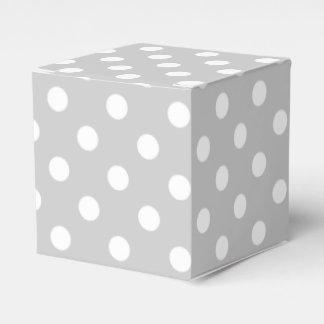 Caixinha De Lembrancinhas Teste padrão de bolinhas cinzento
