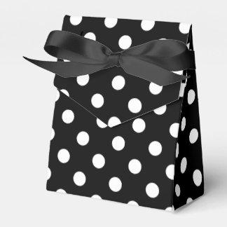 Caixinha De Lembrancinhas Teste padrão de bolinhas preto e branco