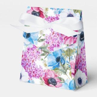 Caixinha De Lembrancinhas Teste padrão de flores roxo azul da meia-noite da