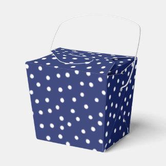 Caixinha De Lembrancinhas Teste padrão de pontos dos confetes dos azuis