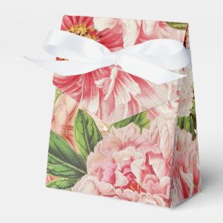 Caixinha De Lembrancinhas Teste padrão floral do primavera retro da flor da