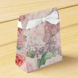 Caixinha De Lembrancinhas Teste padrão retro Painterly do primavera da flor