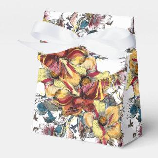 Caixinha De Lembrancinhas Teste padrão tirado realístico do buquê floral