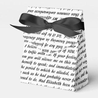 Caixinha De Lembrancinhas Texto do orgulho e do preconceito