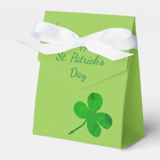 Caixinha De Lembrancinhas Trevo verde irlandês do Dia de São Patrício feliz