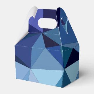 Caixinha De Lembrancinhas Triângulos azuis