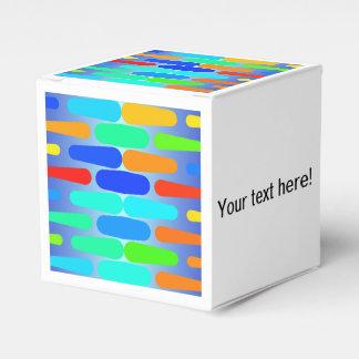 Caixinha Design colorido do abstrato das formas