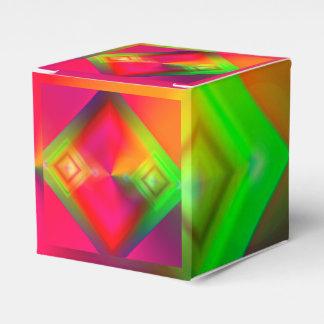 Caixinha Design geométrico colorido