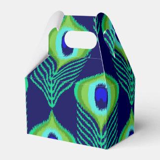 Caixinha Design marroquino do ikat da pena do pavão