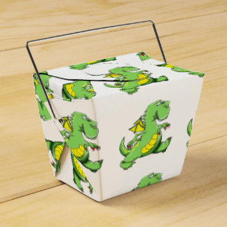 Caixinha Dragão verde dos desenhos animados que anda em