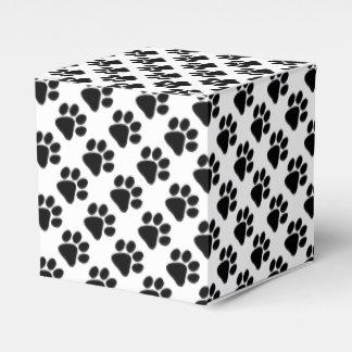 Caixinha Favor/caixa de presente - impressões da pata do