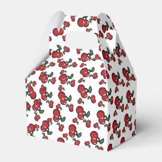 Caixinha Favor de festa de aniversário vermelho das cerejas