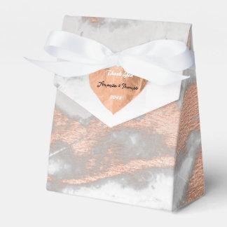 Caixinha Favor de prata do coração cor-de-rosa do cobre do