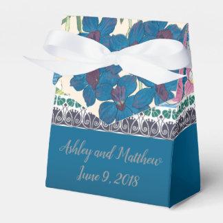 Caixinha Favor do casamento em orquídeas azuis