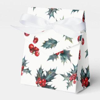 Caixinha Favor rústico do Natal elegante do feriado da baga