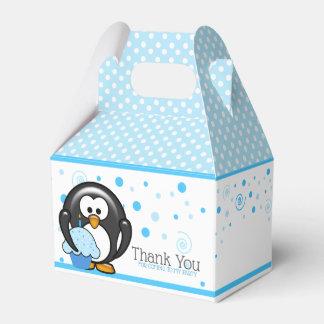 Caixinha Festa de aniversário do cupcake do pinguim