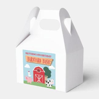 Caixinha Festança do aniversário do Barnyard/caixa favor de