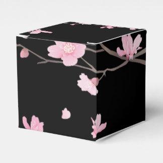 Caixinha Flor de cerejeira - preto