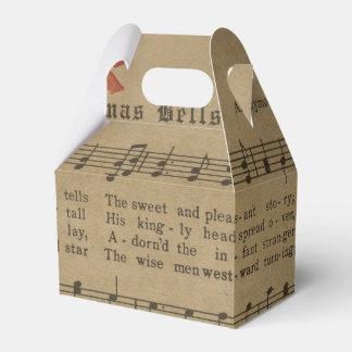 Caixinha Folha de música da canção de natal do natal